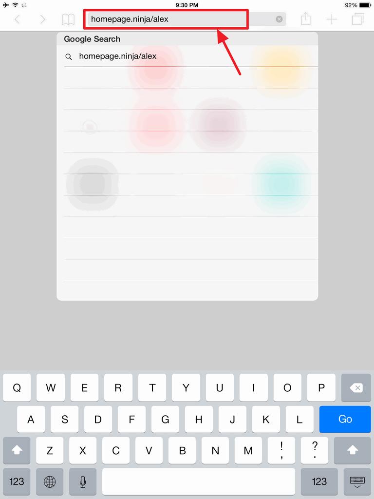 Type In Homepage In Safari